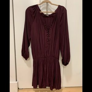 Ramy brook lace up Paris dress